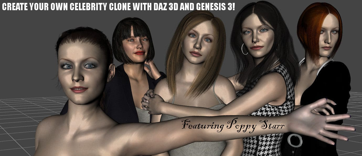 CREATE YOUR OWN CELEBRITY CLONES WITH DAZ STUDIO AND GENESIS 3!