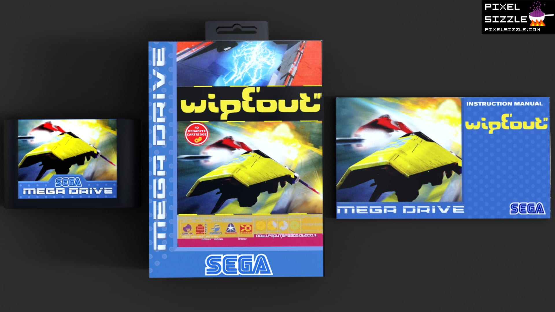 Retro Games. Wipeout. Sega Genesis