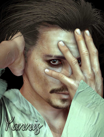 Johnny Depp - Yannis Celebrity 3D Model Lookalike
