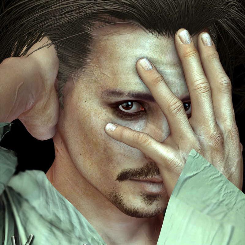 Johnny Depp - Yannis Celebrity 3D Model Lookalike