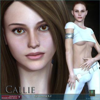 MRL Callie - Natalie Portman Celebrity 3D Model Lookalike