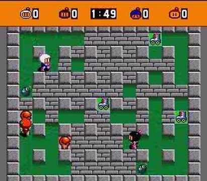super bomberman game grid