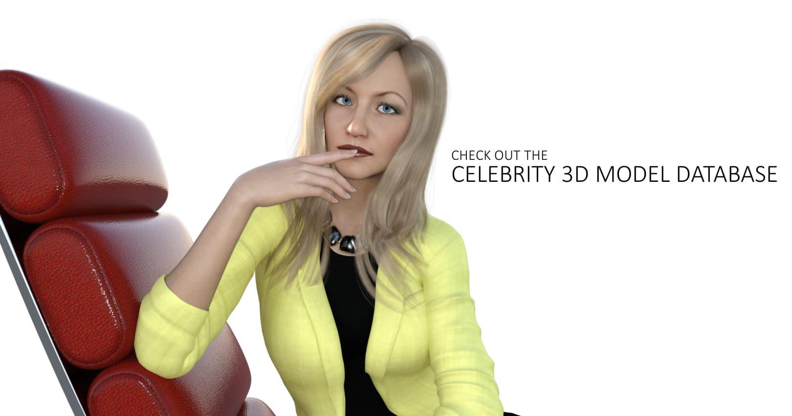 Celebrity 3D Model Database