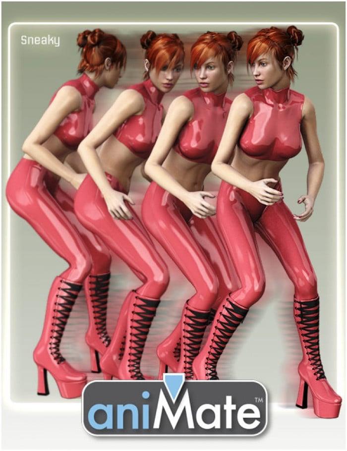 aniMate Walk Styles 1 for Victoria 8 and Genesis 8 - Daz Studio
