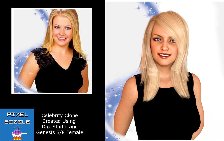 Daz Studio Celebrity Comparison - Melissa Joan Hart
