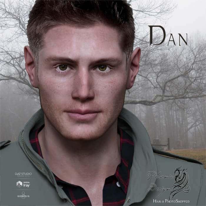 Jensen Ackles - Phx Dan for Michael 8- Celebrity 3D Model